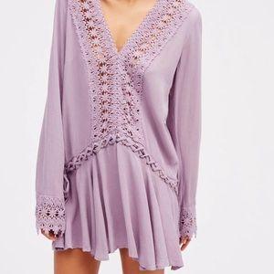 Free People purple mini swing dress